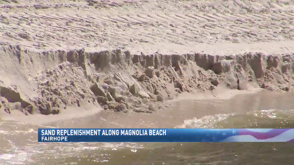 (IMAGE:WPMI) Fairhope Beach spends thousands on sand for Magnolia Beach