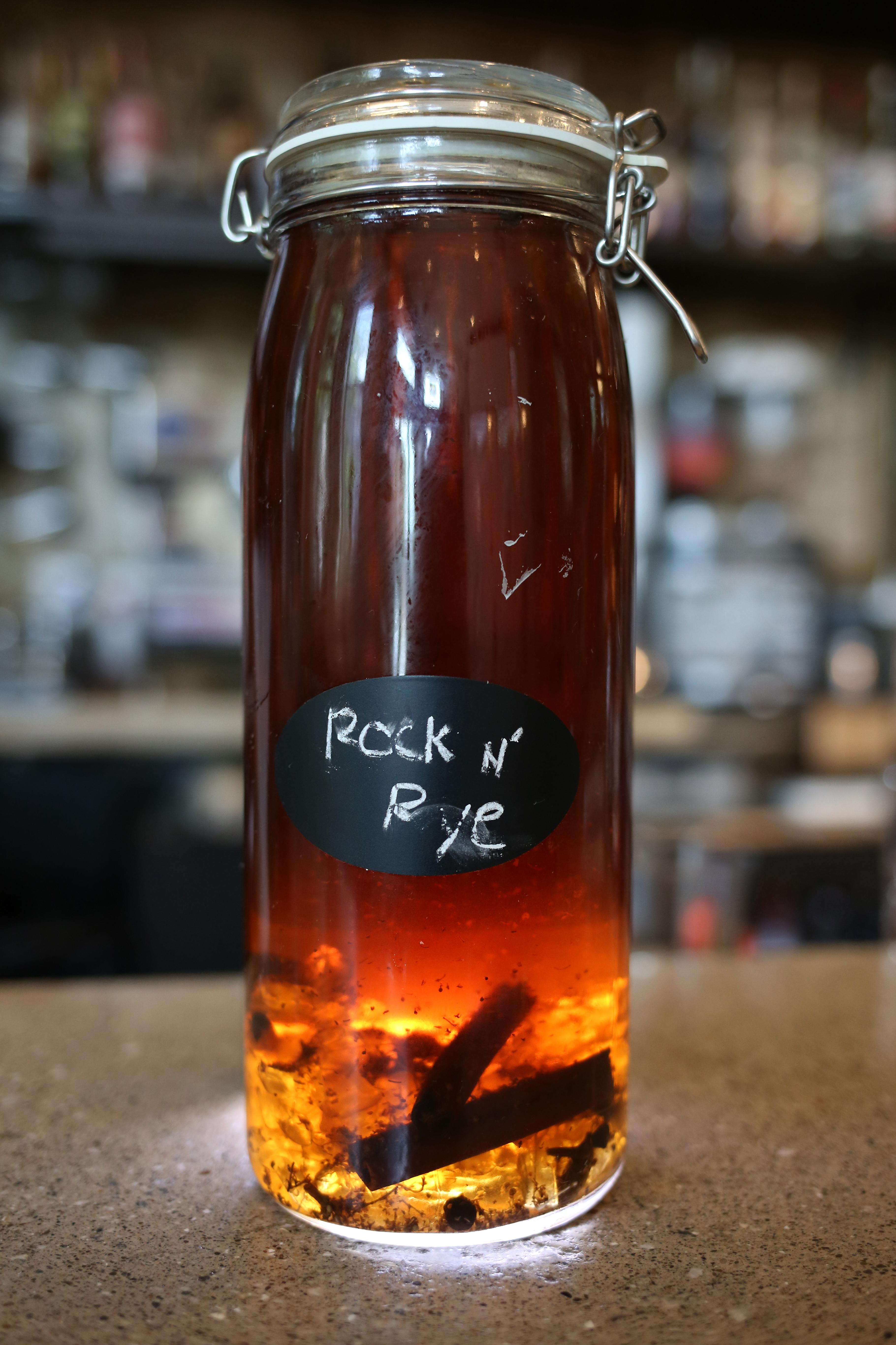 The Royal's Rock  & Rye is an ultra-drinkable spice-infused rye with a tiny kick of lemon to keep things light. However, the real secret is that it's made with rock candy! The candy is dissolved in the mix for up to 7 days  and then served on tap. (Amanda Andrade-Rhoades/DC Refined)