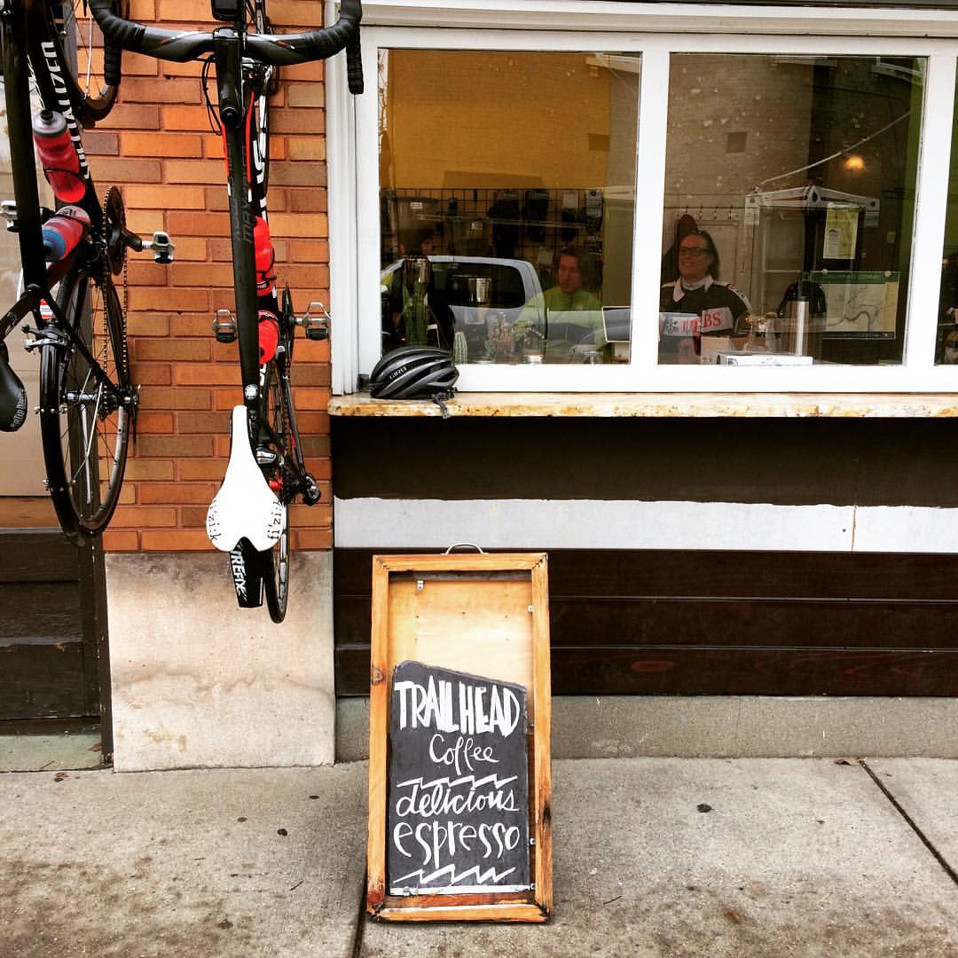 Trailhead Coffee is located within Reser Bicycle Outfitters in Newport, Kentucky. ADDRESS: 648 Monmouth Street / Image courtesy of Trailhead Coffee // Published: 3.27.17