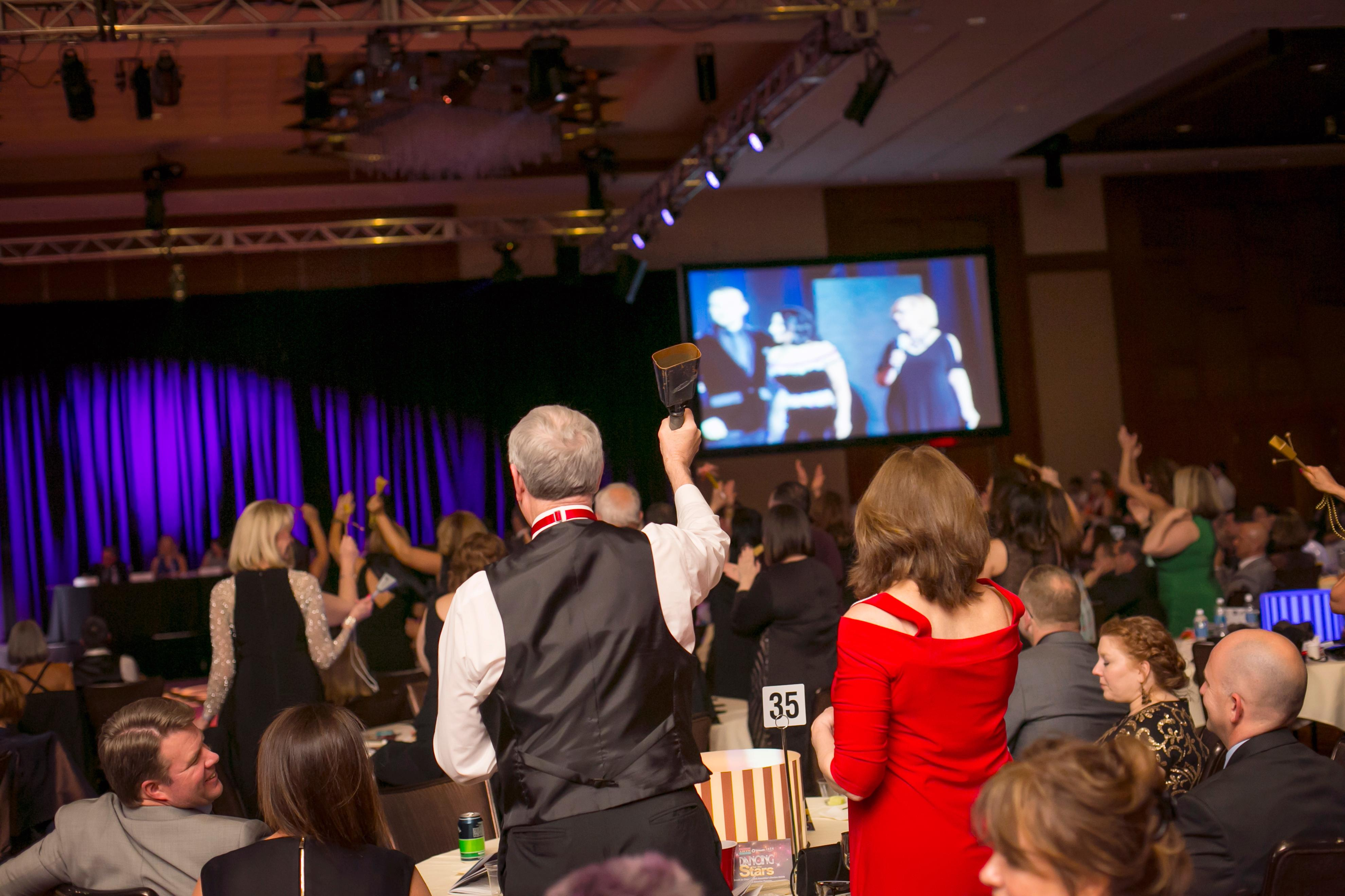 The Cincinnati Arts Association hosted its annual Dancing for the Stars fundraising event on Saturday, April 8 at JACK Casino, where local beacons in the community are partnered with professional dancers. / Image: Mike Bresnen Photography // Published: 4.9.17