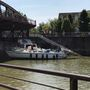 Boat's mast strikes lift bridge in Fairport