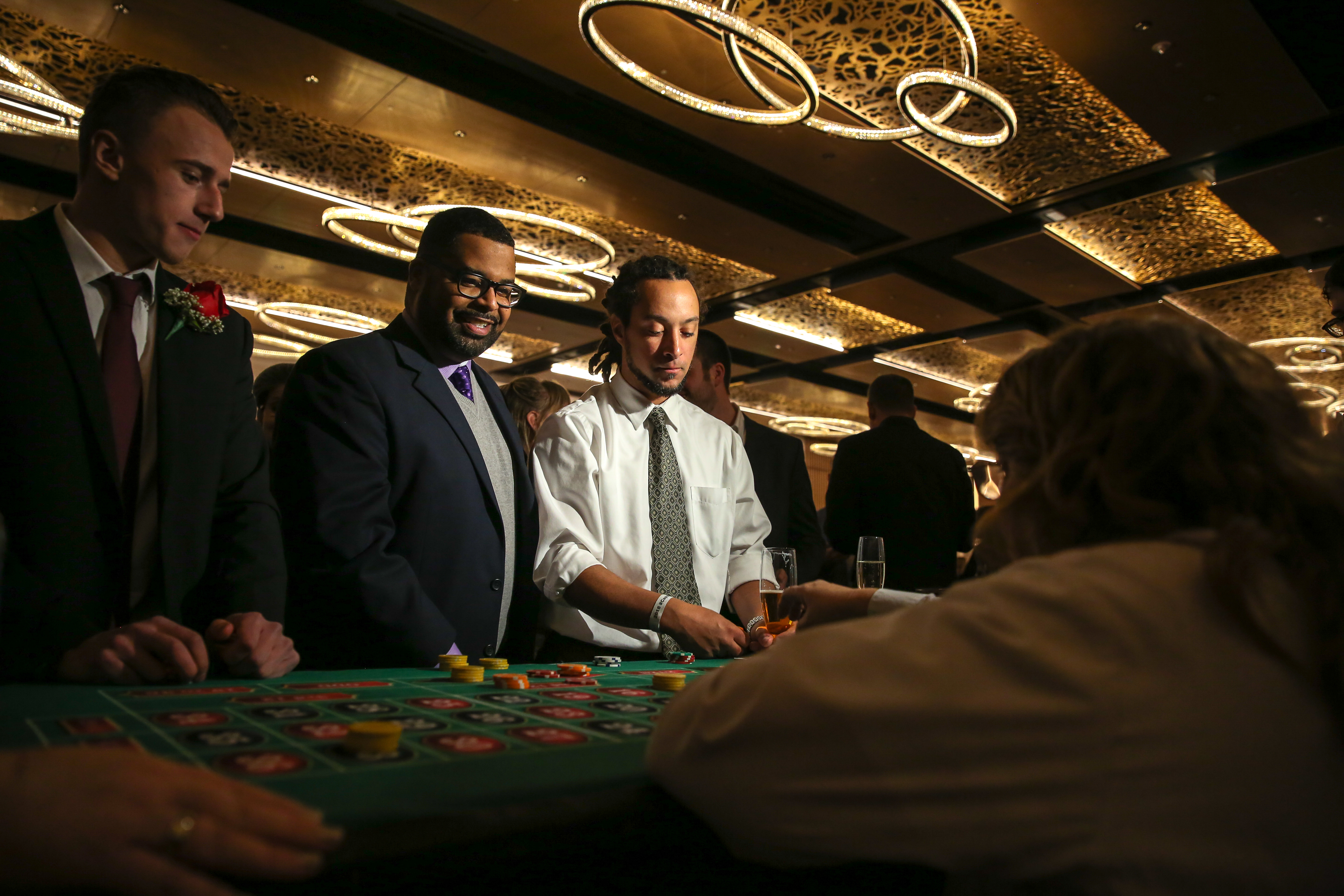 Players from the Washington Capitals mingled with fans at their annual Casino Night, which was held at MGM National Harbor, on January 4. The proceeds of the evening{ } went to charity and gave fans a chance to get up close and personal with their favorite hockey players over the poker table. (Amanda Andrade-Rhoades/DC Refined)
