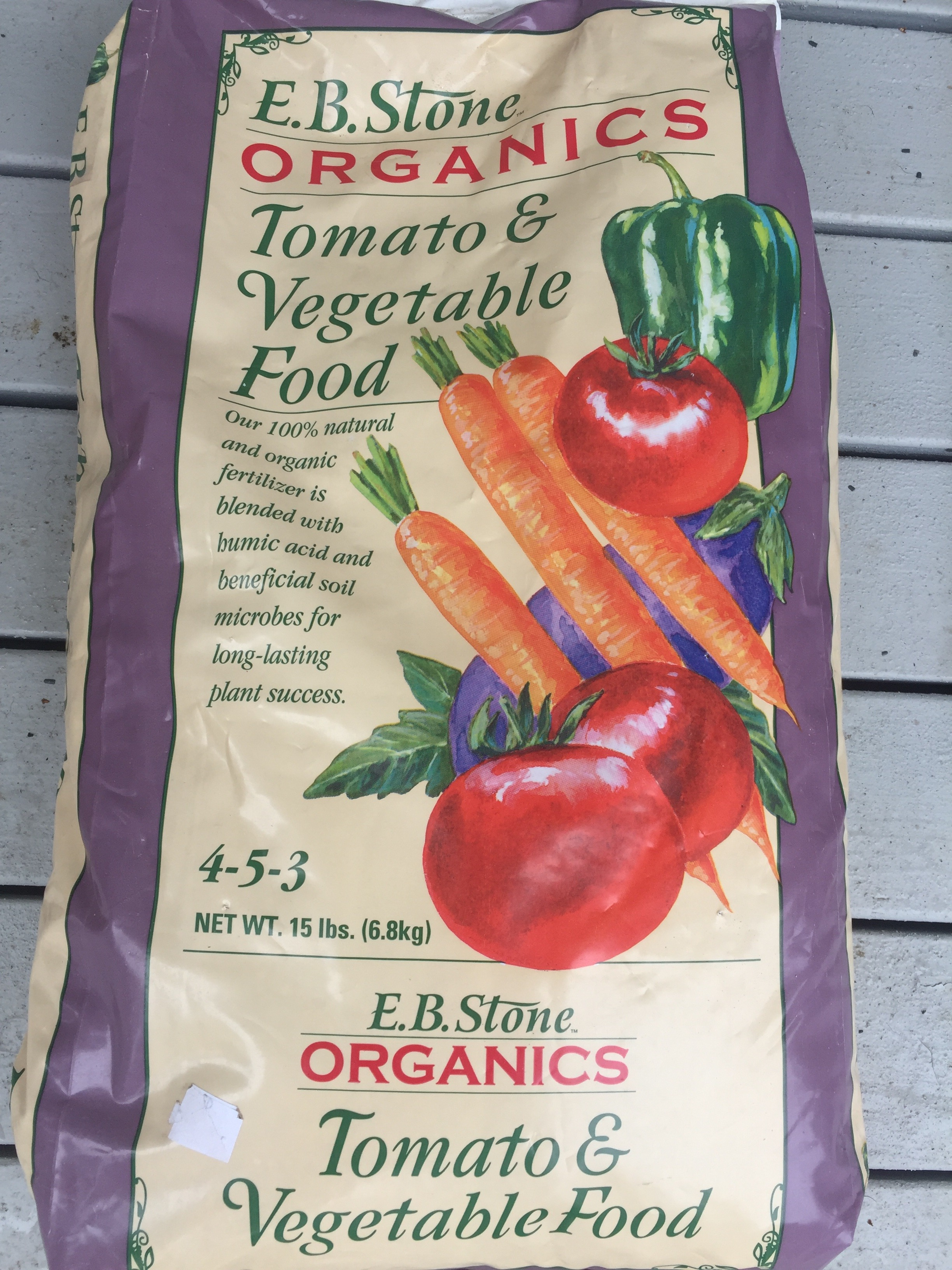 This is the organic tomato food Ciscoe recommended for my snap peas. (Image: Susan Galbraith)