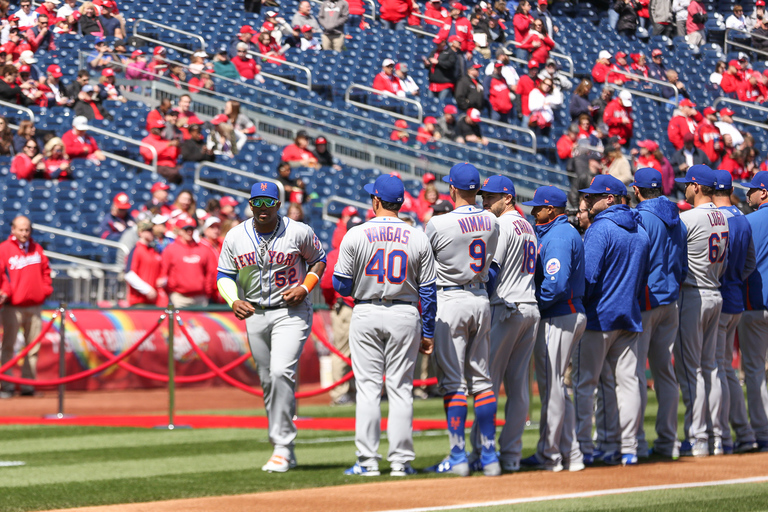 The Nats faced off against the Mets in the District this afternoon, marking the first home game of the season. The game started with players being given awards for their excellent performances and a ceremonial first pitch. (Amanda Andrade-Rhoades/DC Refined)