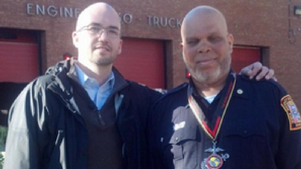 Preston Williams receives Marine Corps Marathon medal from ...