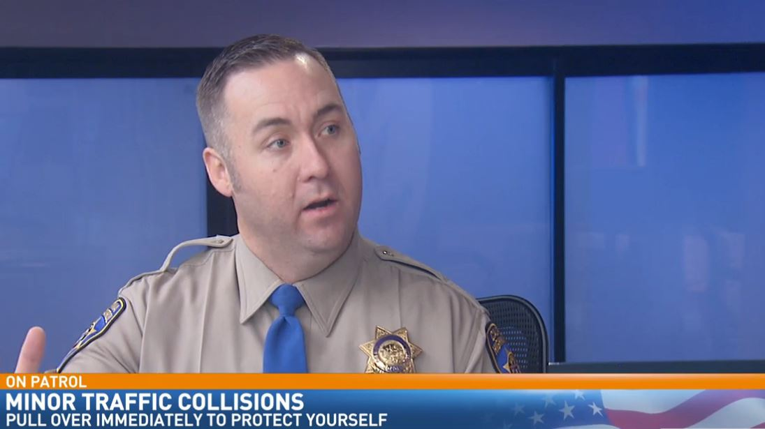 CHP Officer Justin Foraker visited Great Day to talk about minor traffic collisions