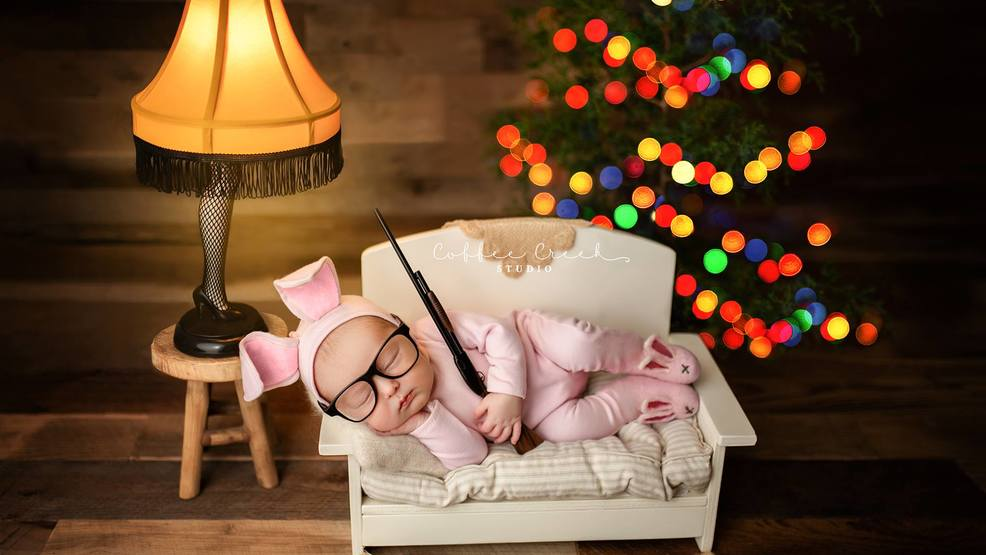 indiana photographer goes viral for newborns a christmas story photo - When Did The Christmas Story Come Out