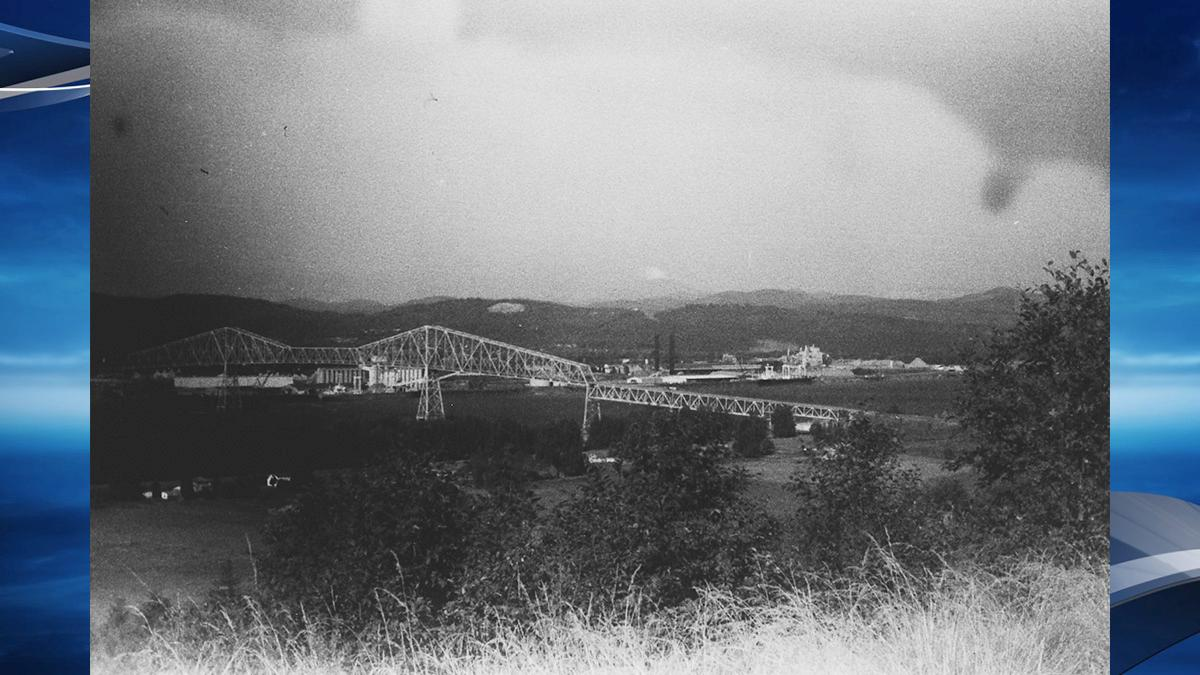 'Found film - Early Mount St Helens eruption in the distance with the Longview Bridge in the foreground' - Photo courtesy Kati Dimoff.jpg