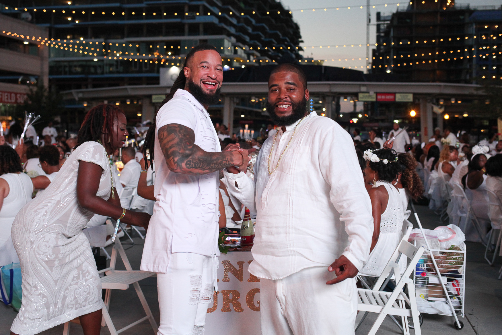 These guys brought their A-game to Diner en Blanc! We love how they stuck with the theme but went above the basic.  (Image: Amanda Andrade-Rhoades/DC Refined)