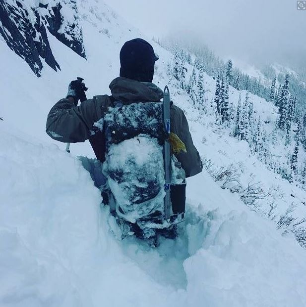 Conditions continued to get worse for the hikers through the weekend. (Photo: courtesy of Dylan Zitawi)
