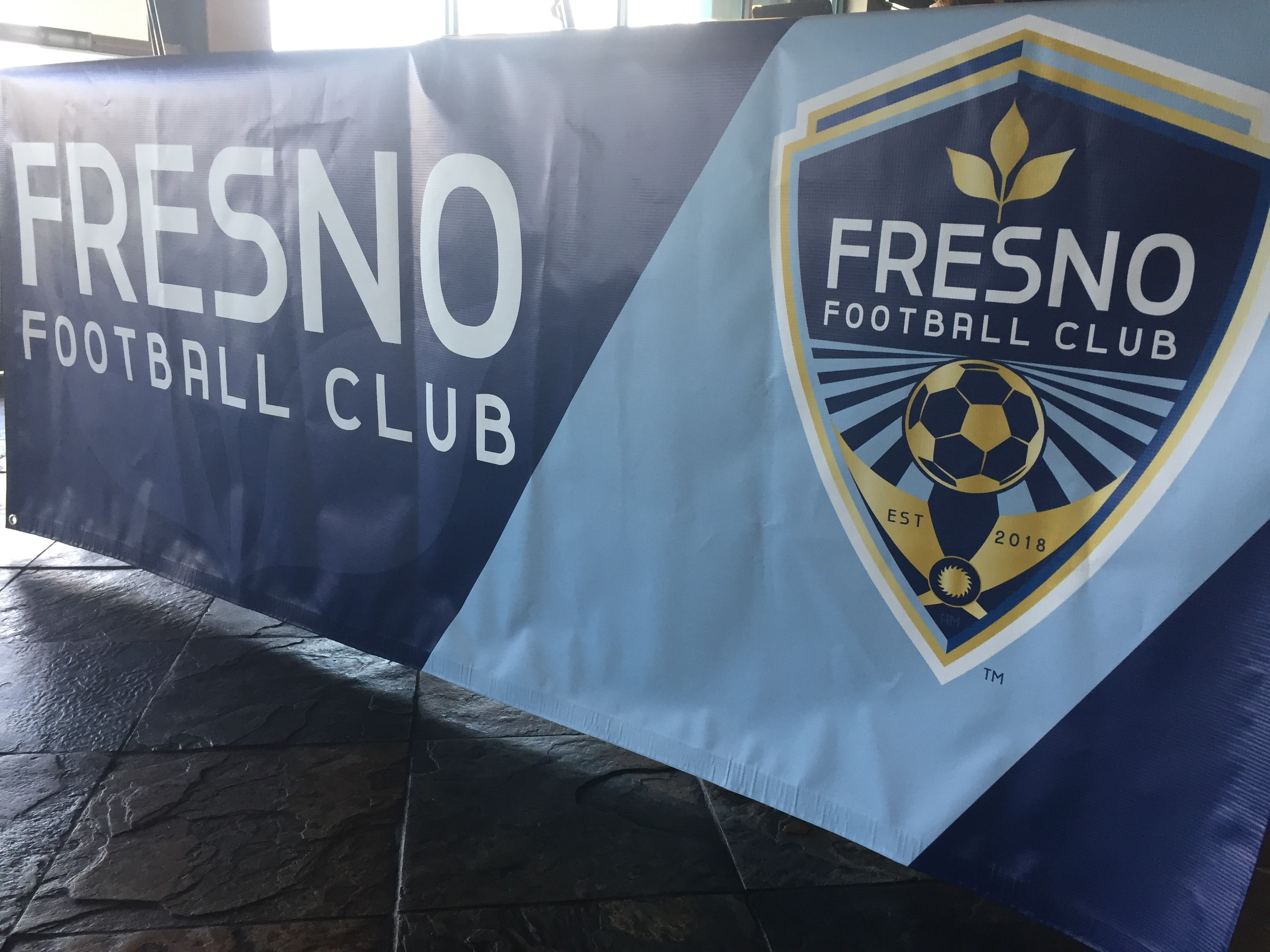 Fresno Football Club logo unveiled at the news conference