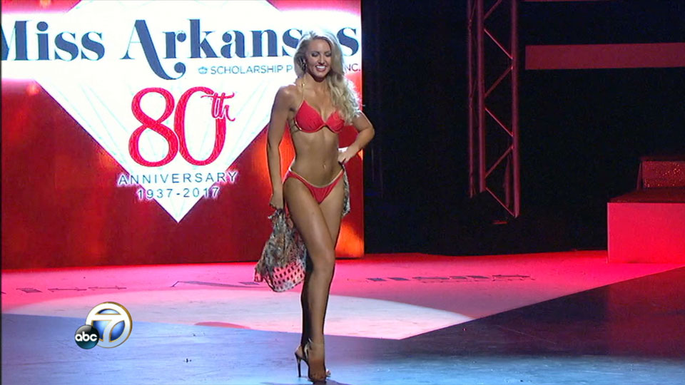 Miss Arkansas swimsuit competition: Bailey Moses (KATV photo)