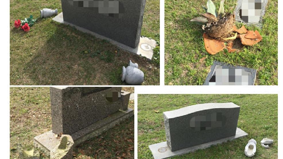 Vandals Break Vases Off Headstones At Bayview Memorial Park Wear