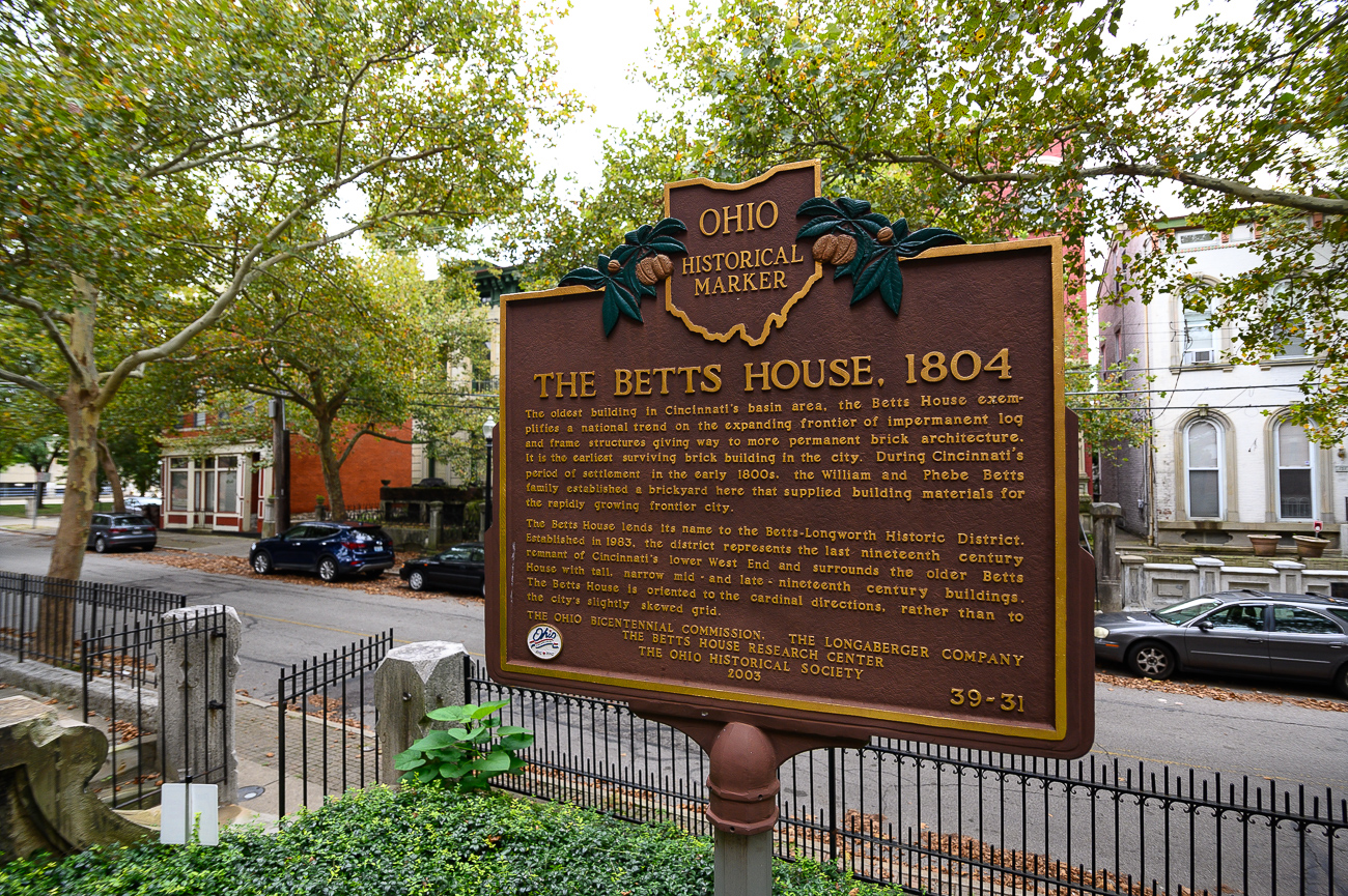 Every month, the public is invited to take a volunteer-led tour of the Betts-Longworth Historic District (BLHD) in Cincinnati's West End. The centerpiece of the district, the Betts House, is of particular interest as it's the earliest surviving brick building in the entire city. Built in 1804 on a 111-acre plot of land owned by William Betts, the house has undergone restoration efforts to keep it standing for years to come. Today, it's a museum owned by the National Society of the Colonial Dames of America in the State of Ohio. / Image: Phil Armstrong, Cincinnati Refined // Published: 9.6.19