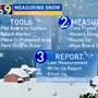 Here's how to measure snowfall during a storm