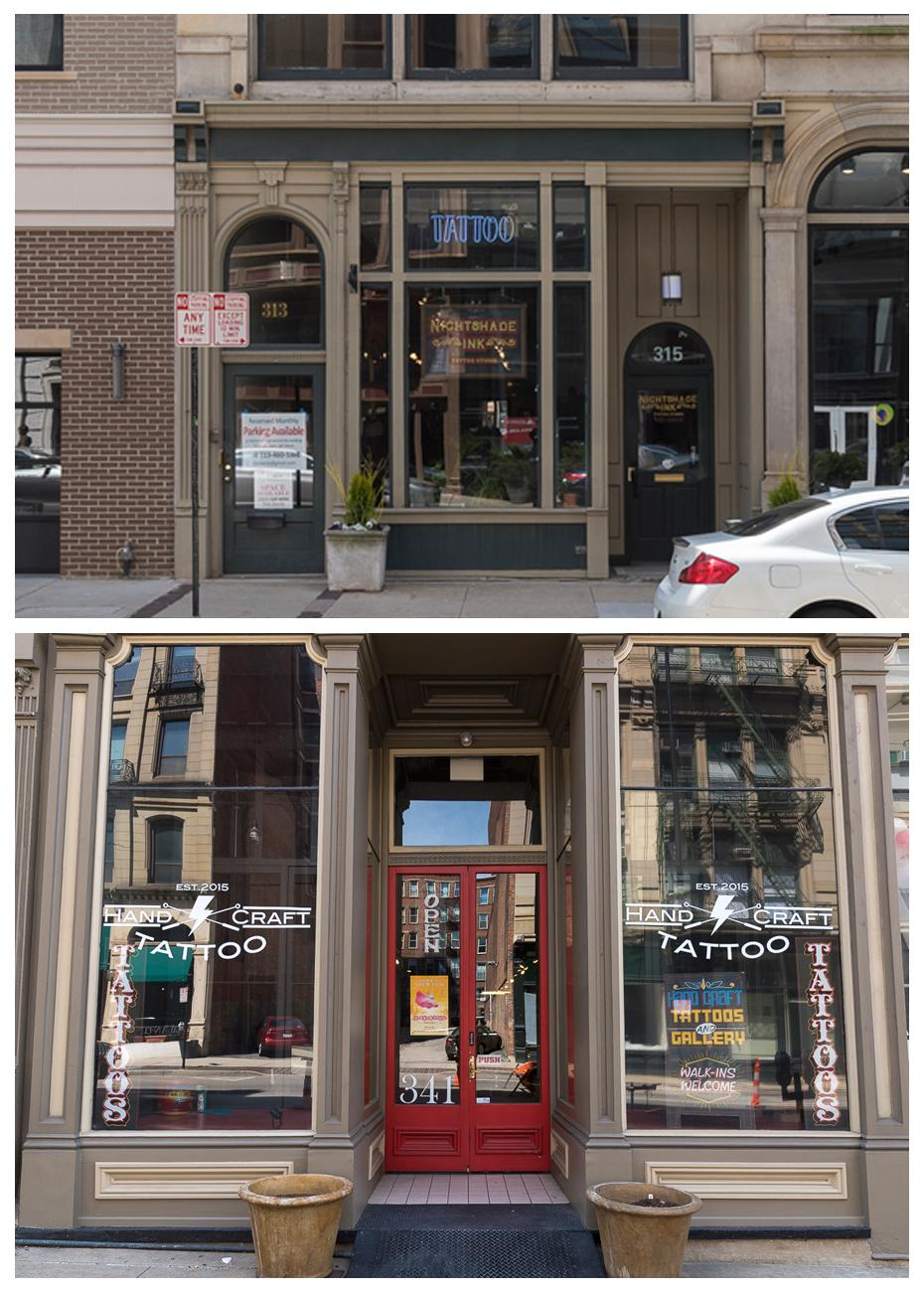 4th Street has tattoo parlors: Nightshade Ink & HandCraft Tattoo / ADDRESSES: 315 W 4th Street & 341 W 4th Street / Images: Phil Armstrong, Cincinnati Refined // Published: 4.23.18