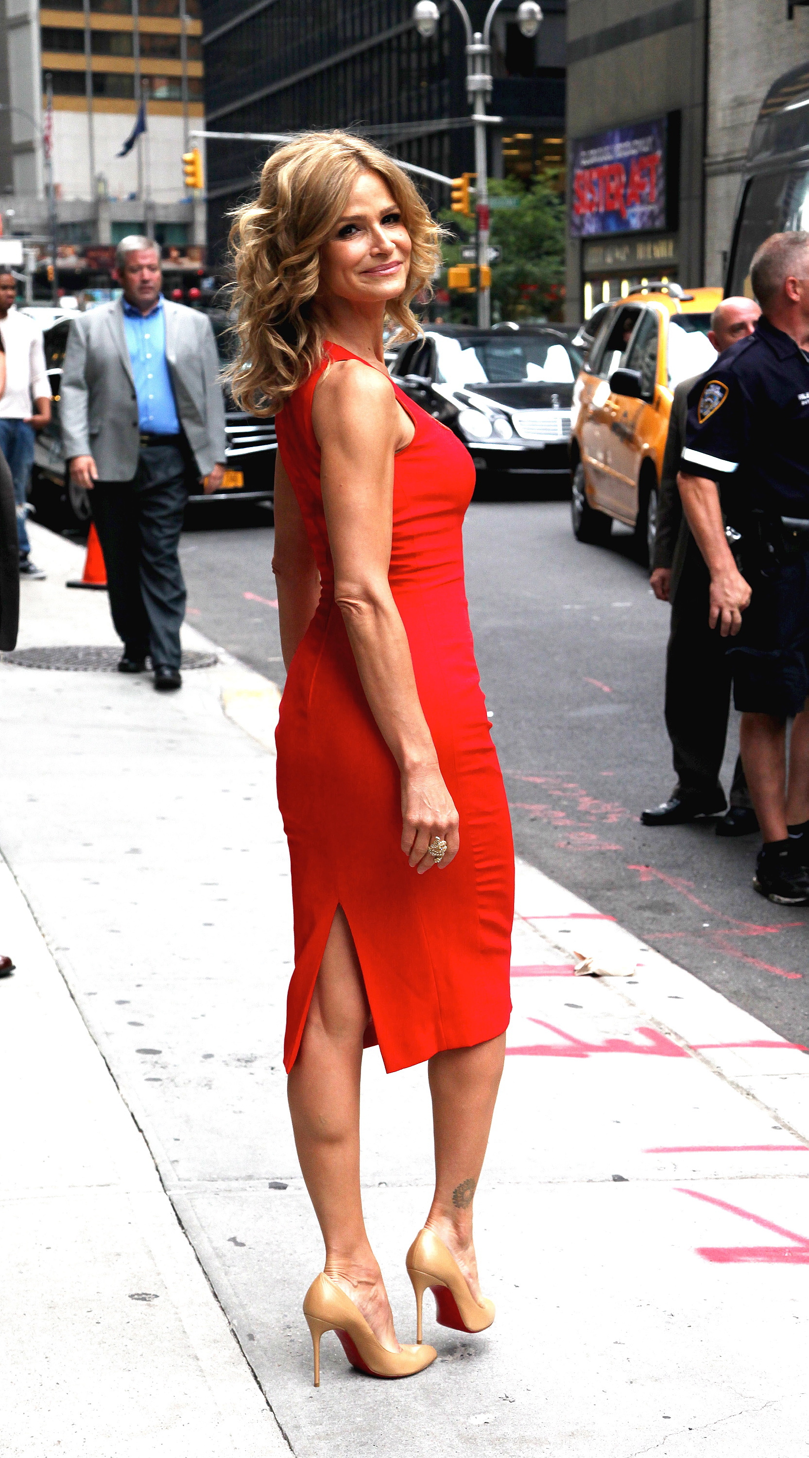 Kyra Sedgwick 'The Late Show with David Letterman' at the Ed Sullivan Theater - Arrivals  Featuring: Kyra Sedgwick Where: New York City, United States When: 18 Jul 2012 Credit: WENN