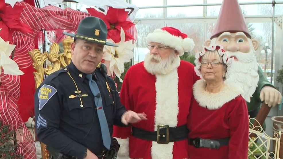 Indiana State Police And Santa Claus Join Forces To Talk Travel Safety This Holiday Season Wsbt