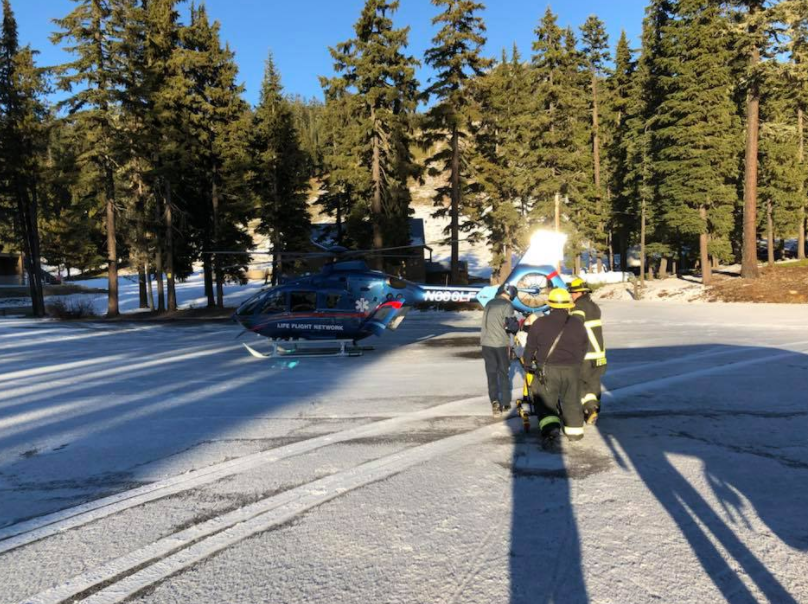 Oakridge Fire responded to a crash on Highway 58 on Monday afternoon, where one passenger was severely injured. (Photo Courtesy of Oakridge Fire).