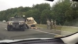 Crash involving military vehicle ties up traffic in Dartmouth