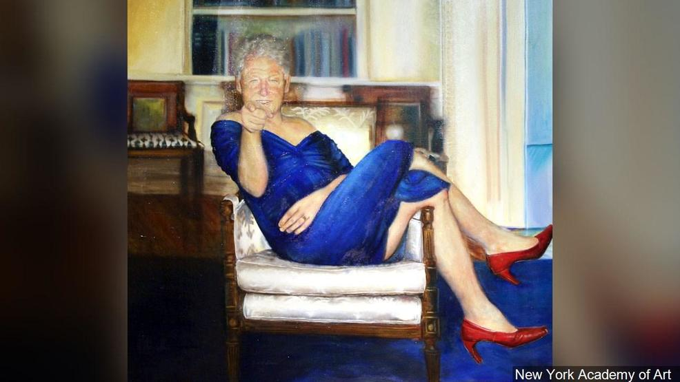 Report: Painting of former President Bill Clinton in a dress found in Jeffrey Epstein home