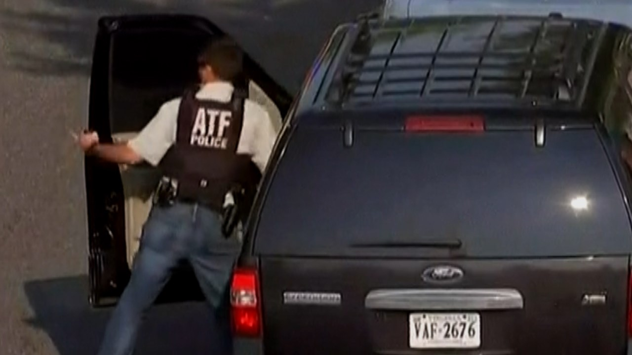 ATF arrives at the crime scene in Alexandria, Va. (MSNBC/MGN)