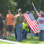 Dozens turn out to protest pro-Confederacy rally in Arkansas