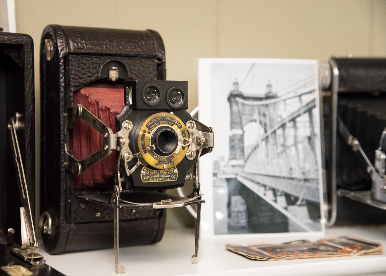 An old camera next to a photo he made using that same old camera / Image: Phil Armstrong, Cincinnati Refined // Published: 2.25.19