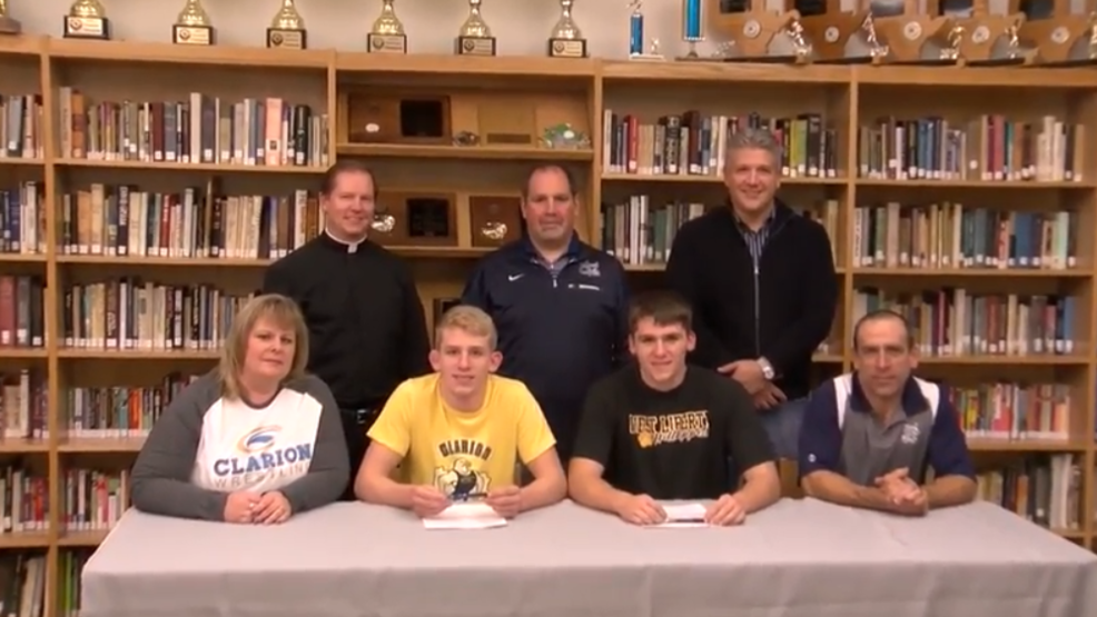 11.28.18 Video - Cook twins sign college wrestling letters of intent at Madonna