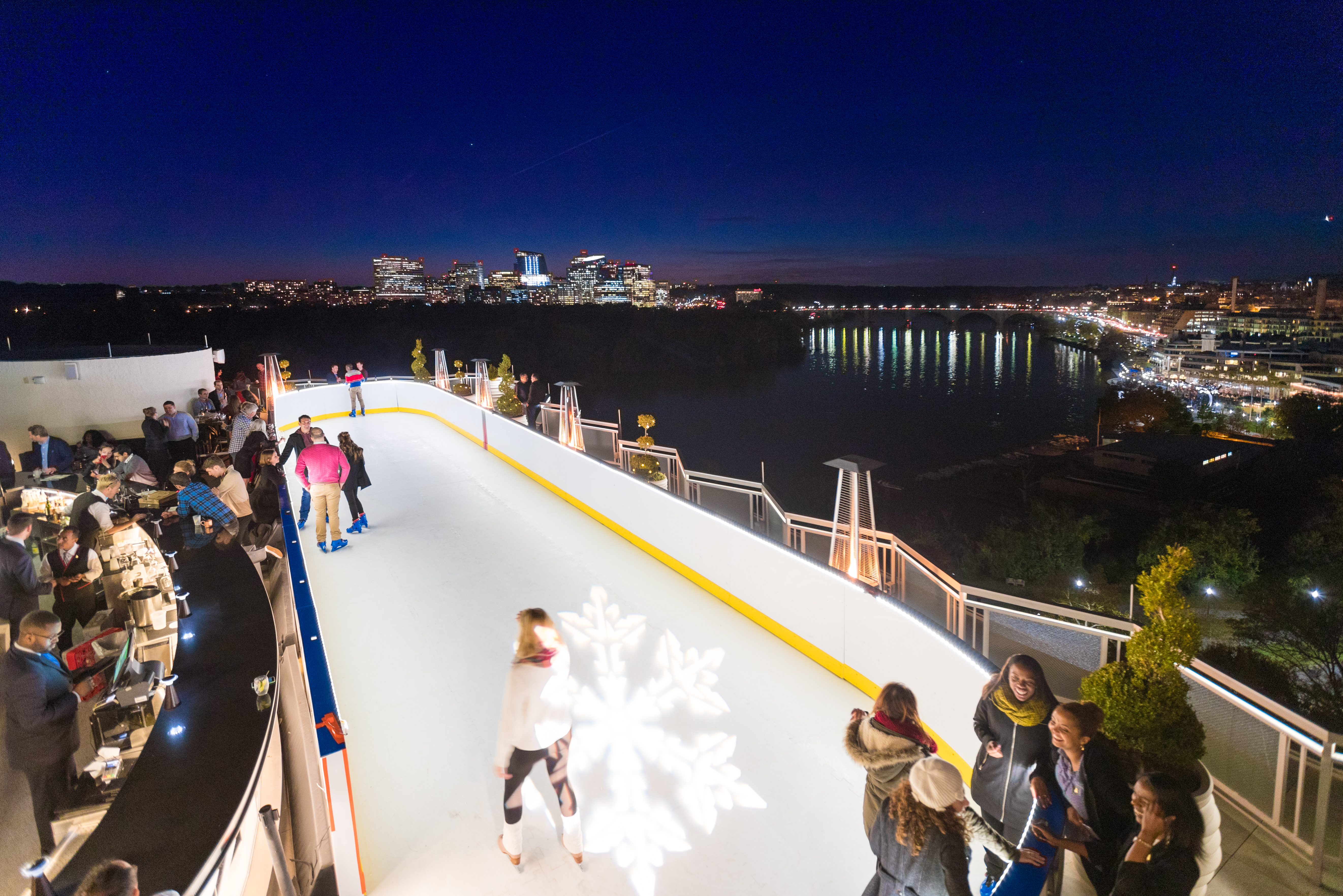 We all know D.C. has a pretty insane outdoor rink game -- ice skating on the Georgetown waterfront, ice skating in the sculpture garden on the national mall -- but this year the Watergate Hotel is taking it up a notch.{&amp;nbsp;} (Image: Courtesy Watergate Hotel)<p></p>