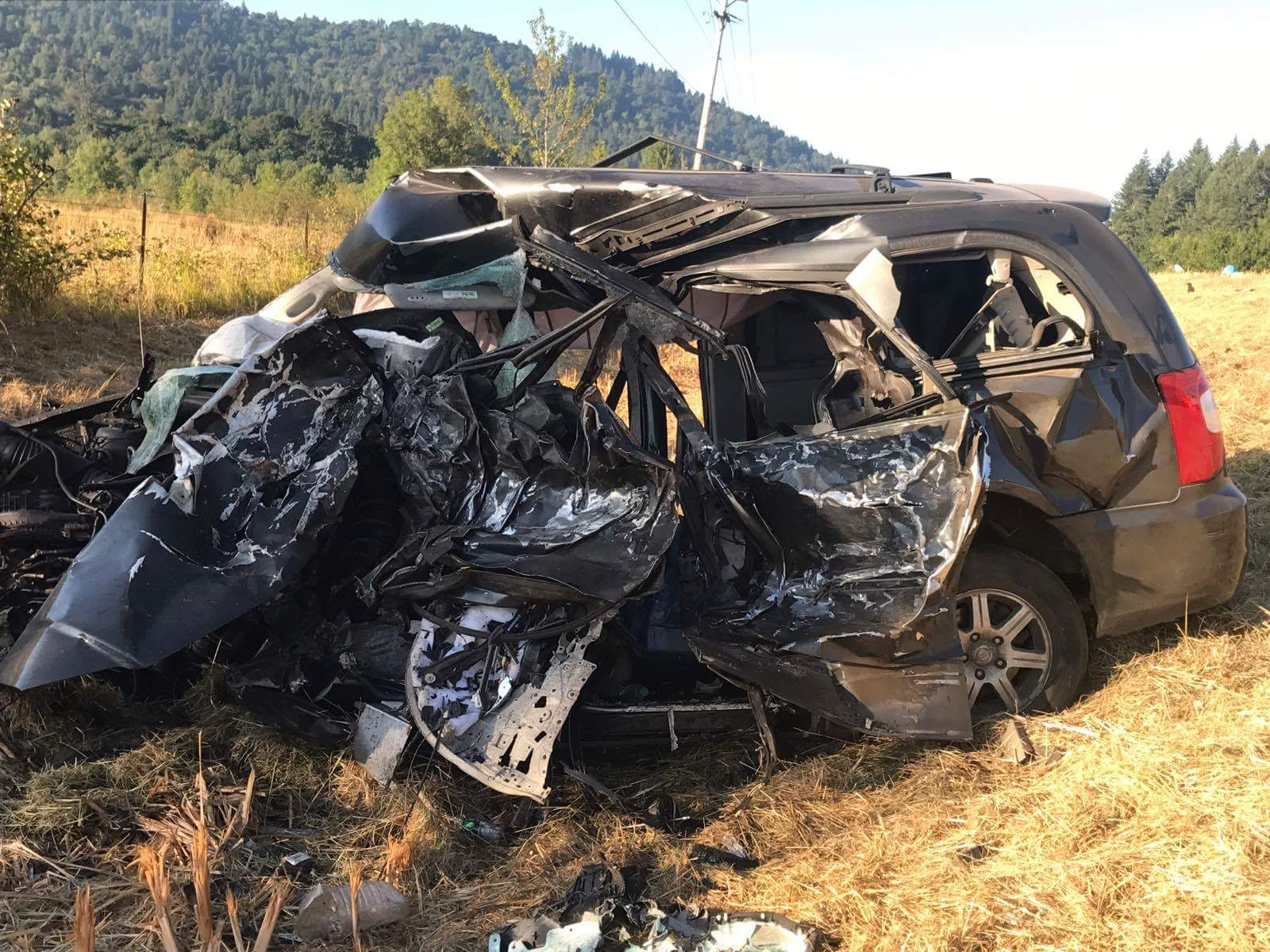 A Turner man died in a crash in Lane County, August 5, 2017. (viewer photo)