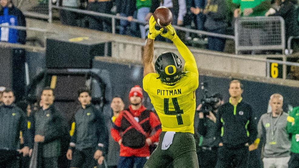 Oregon WR Mycah Pittman suffers broken arm, out for six weeks
