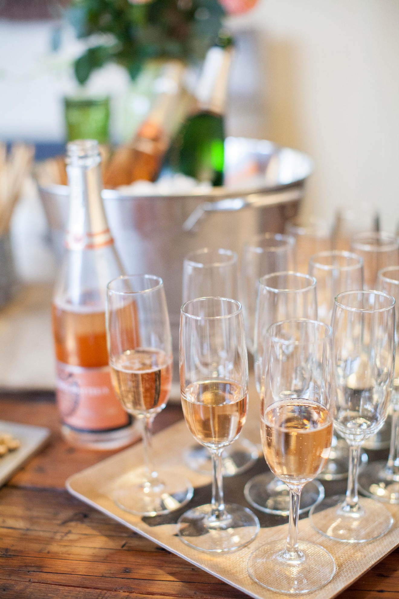 Brut Rosé and willing vessels. (Image: Katie Parra)