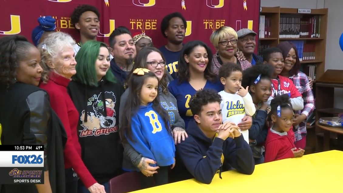 Kazmeir Allen signing ceremony for UCLA