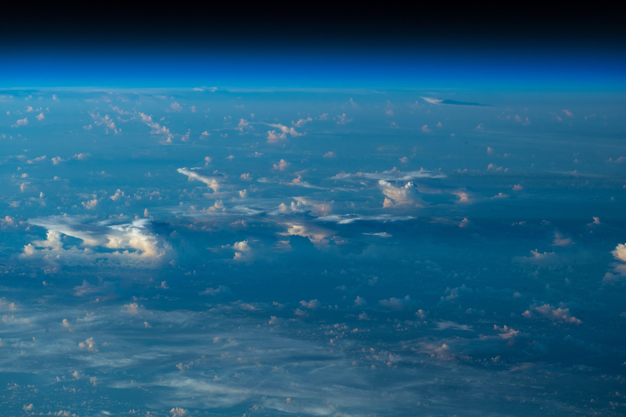 Cloud shadows. Just can't get enough of them  (Photo & Caption: Alexander Gerst / NASA)