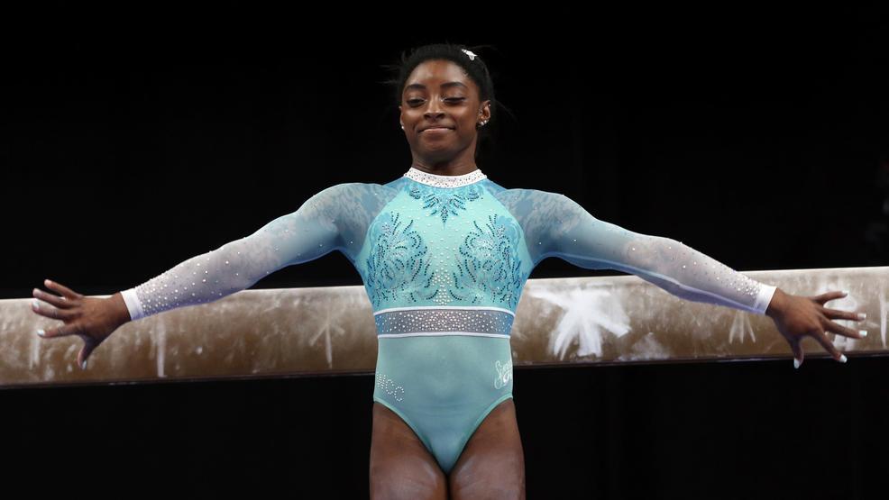 "Williams Auto World >> Simone Biles dresses ""for the survivors"" while winning 5th US gymnastics title | WJLA"