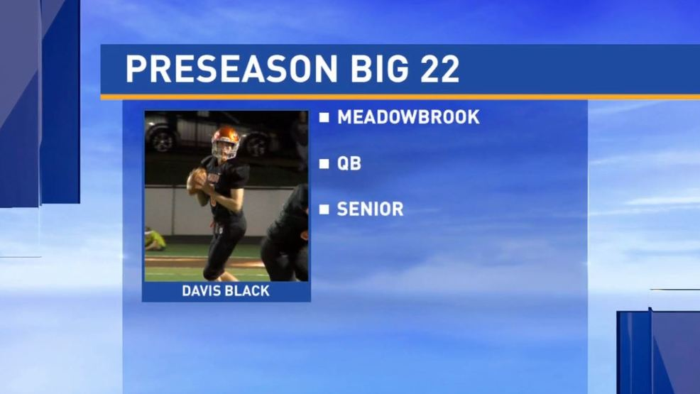 Big 22 Preseason player profile - Davis Black, Meadowbrook