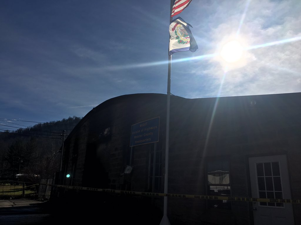 State officials said Cogar had only worked for the agency since October. The fire was at the garage in Cherry Falls in Webster County. (WCHS/WVAH)<p></p>