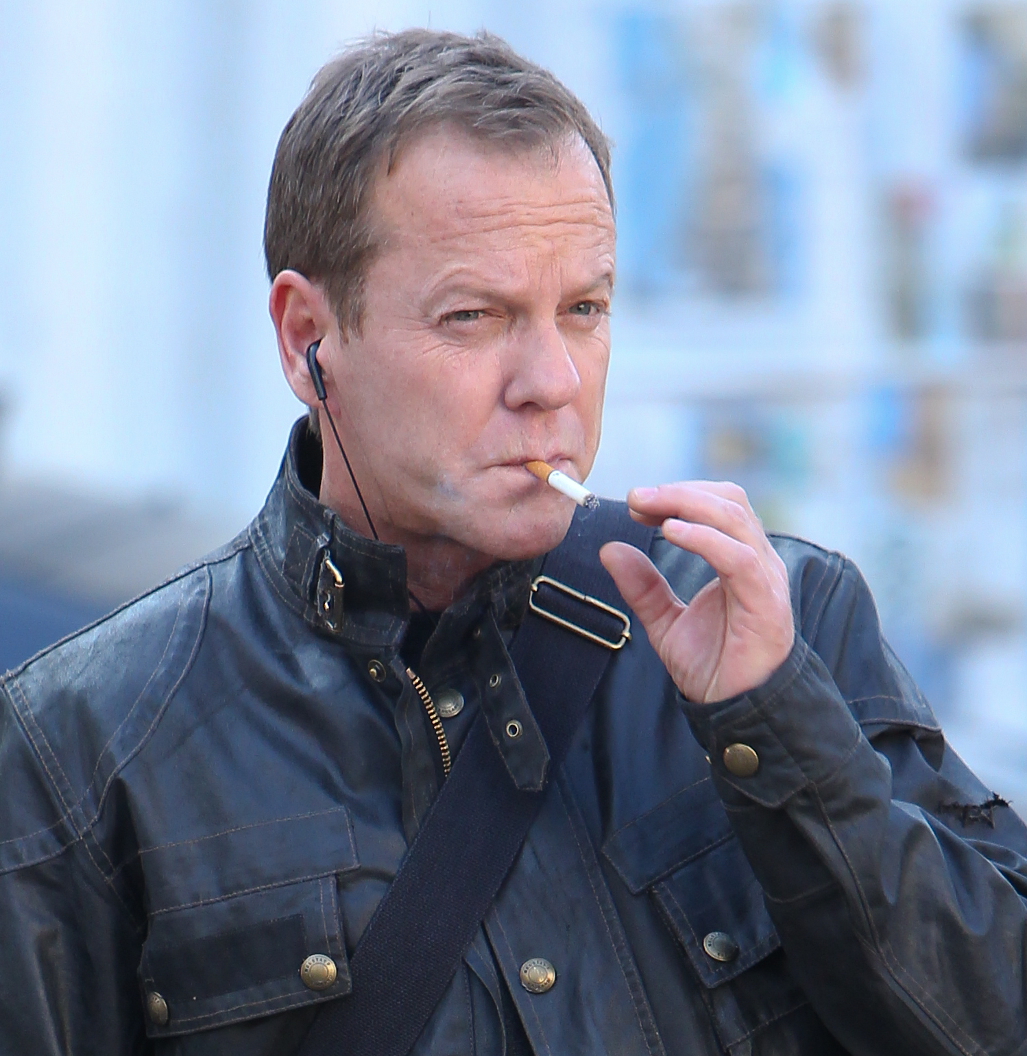 '24: Live Another Day' filming in Central London  Featuring: Kiefer Sutherland Where: London, United Kingdom When: 09 Mar 2014 Credit: WENN.com