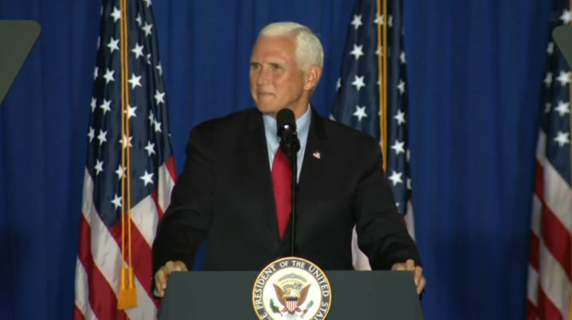 Oct. 27, 2020 - Hundreds gather for Vice President Pence's Greenville, S.C. campaign rally. (Photo credit: WLOS Staff)