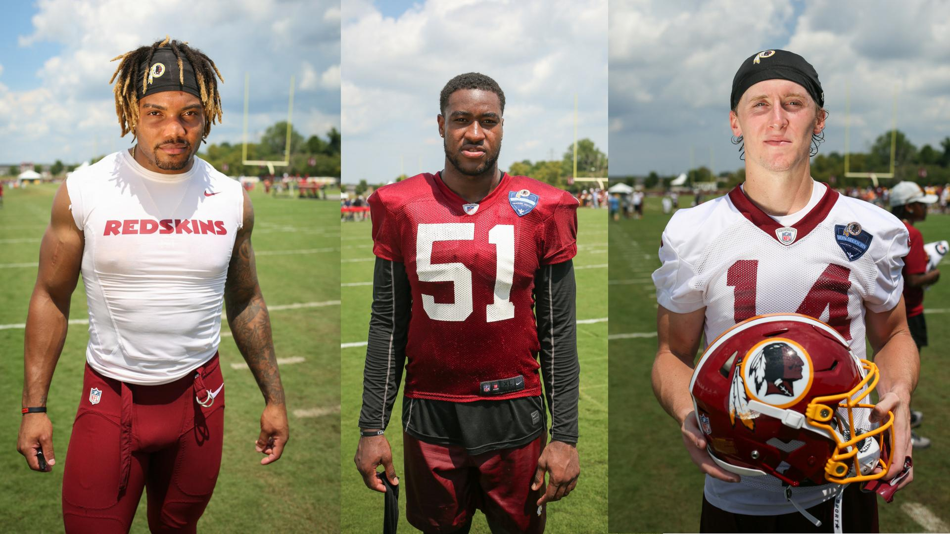 With football season just around the corner, it's time to start getting familiar with a few new numbers -- eight to be exact! In the offseason, the Redskins drafted eight rookies to their ranks, from their first round pick Da'Ron Payne to the last pick of the draft, Trey Quinn. We stopped by training camp one brutally hot day to get to know the gents a little better. (Images: Amanda Andrade-Rhoades/ DC Refined)