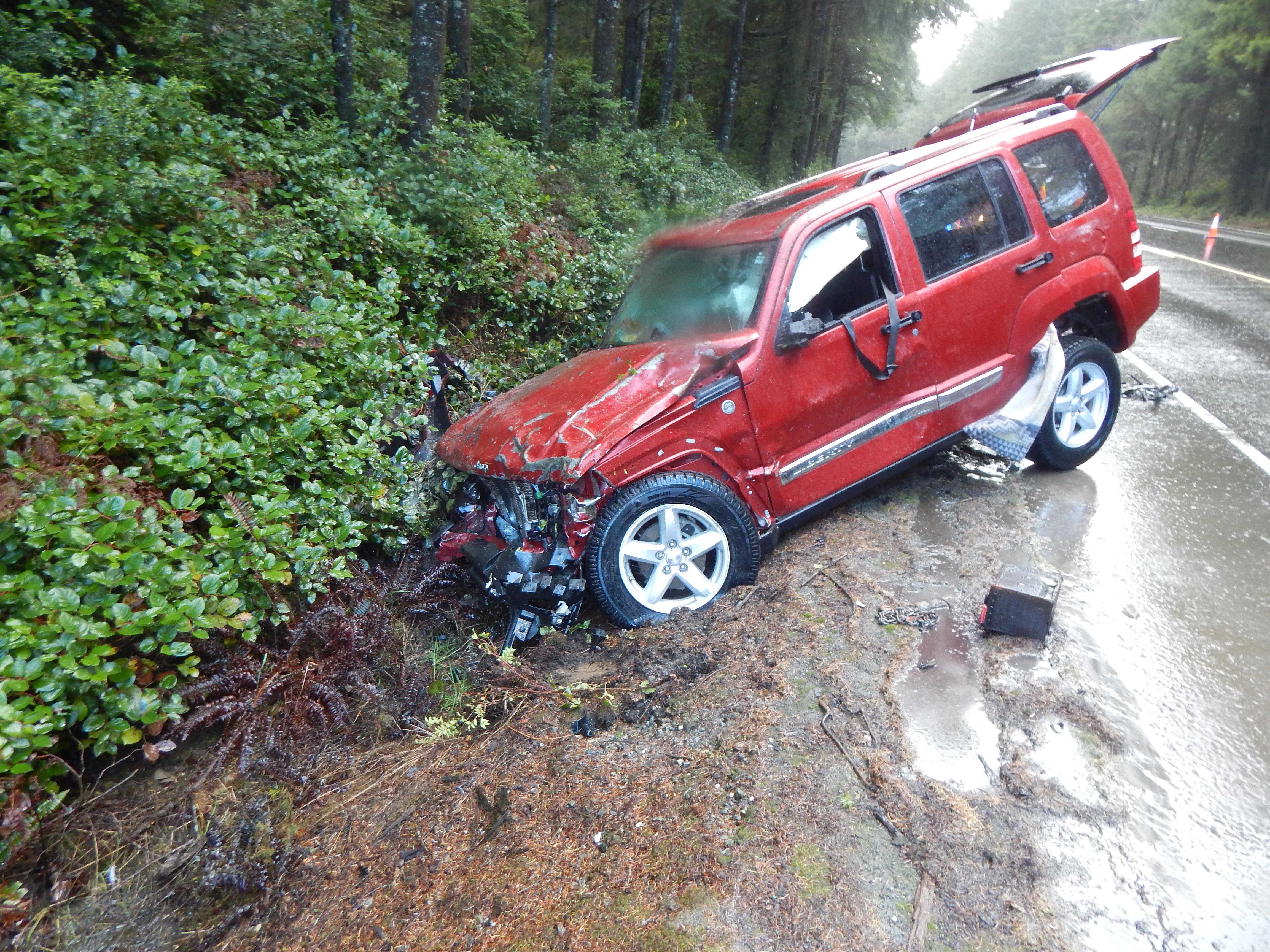 <p>Vanessa Goodwin, 25, was southbound on Hwy 101 between Coos Bay and Bandon when she lost control during a hail storm, police said. Her 2016 Toyota Scion crossed into oncoming traffic and collided with a northbound 2010 Jeep Liberty. The driver of the Jeep - Everett Harty, 70, of Winston - and his passenger - 65-year-old Jeanette Harty - were taken to Bay Area Hospital in Coos Bay, police said. They are expected to survive. (OSP)</p>