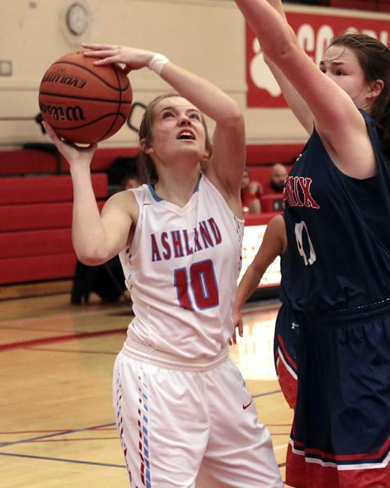 Ashland High Girls' Basketball hosted Phoenix High at Mountain Avenue Gym. [ // PHOTOS BY: LARRY STAUTH JR]