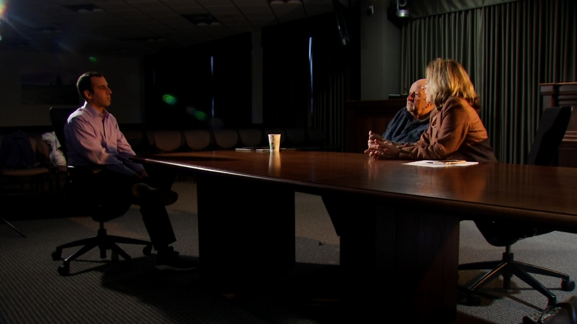 Frost is a Democrat, and Fryar is a Republican.{&amp;nbsp;} There was a time when these two would not been sitting down together for an interview. (Photo: WLOS staff)<p></p>