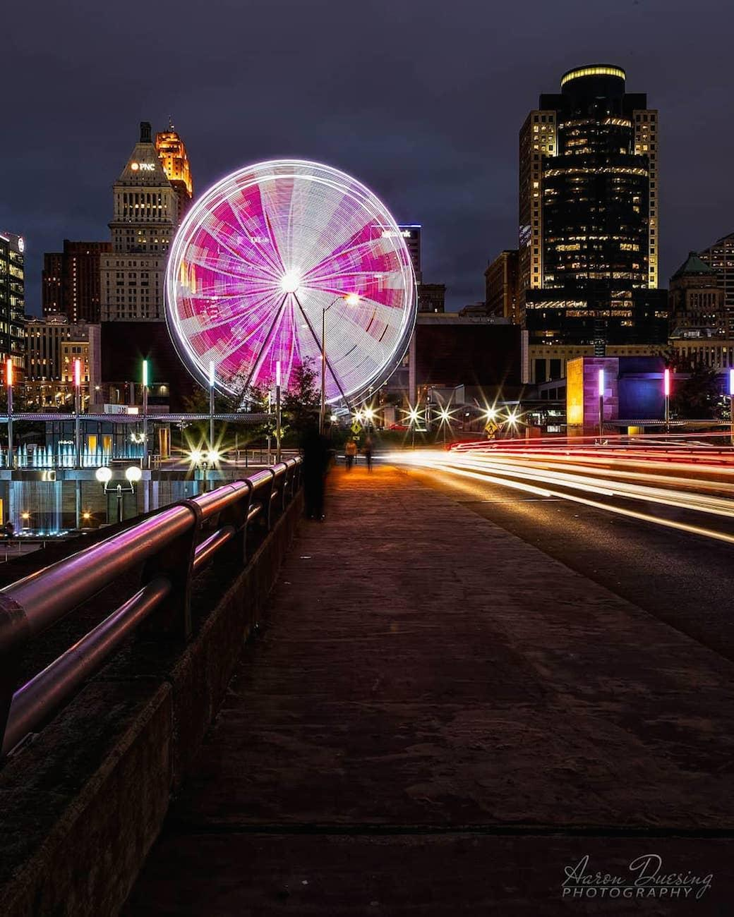 The SkyStar is the largest traveling observation wheel in the country. Guests are carried in gondolas up almost 15 stories high while overlooking the Ohio River. The 36 carriers are climate-controlled and can hold up to six people. The magnificent structure will only call The Banks its home through December 2nd before it's packed up and rolled to a new city. SkyStar runs daily, and tickets are $12.50. ADDRESS: 55 East Freedom Way (45202) / Image courtesy of Instagram user @aduesing1210 // Published 9.12.18