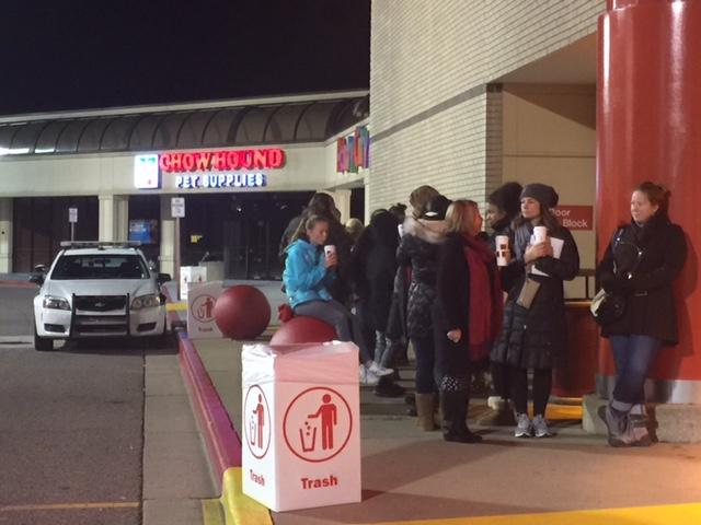 Outside the Target store in Portage, customers were lining up by 6 a.m. (WWMT/Jessica Wheeler)<p></p>