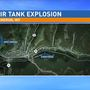 Air tank ruptures under building in Marshall County