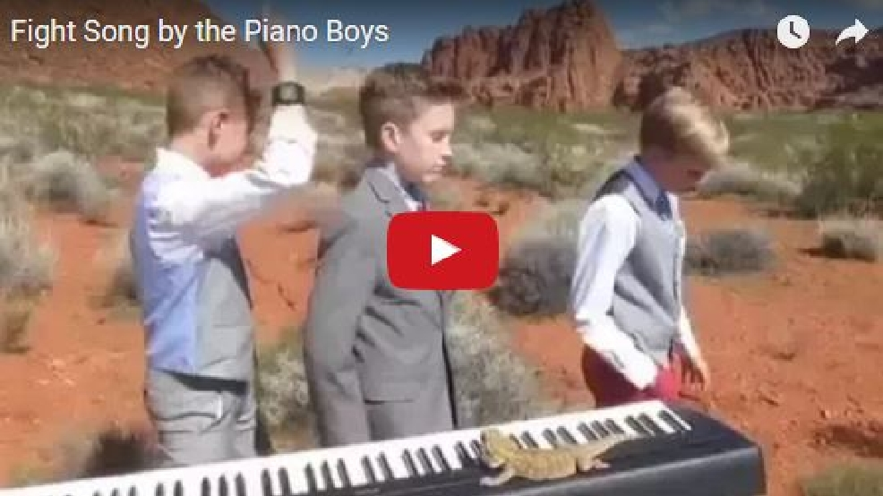 how to play fight song on the piano