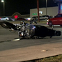 Motorcyclist injured after slamming into car that turned in front of him, say police