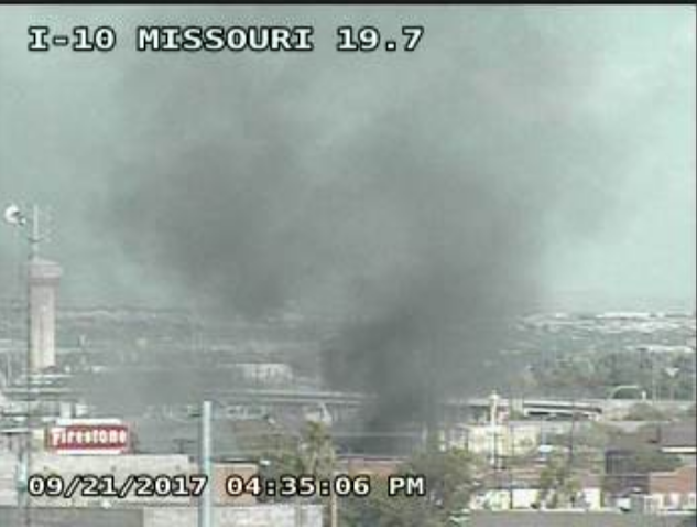 Fire reported in South Central El Paso. (Credit: TXDOT)
